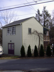 Originally a single story garage, until we added a 2nd floor for an artist's studio and a 1st floor gallery.