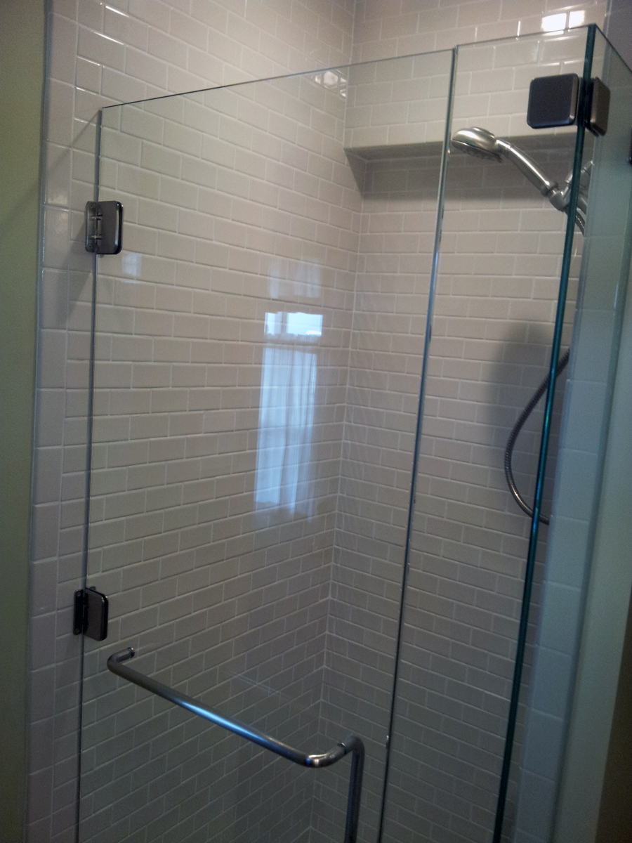 Fiberglass Shower Stall Converted To Beautiful Took Out