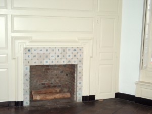 Governor's mansion in Trenton. Restored wood and tile.
