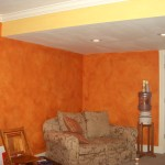 We used three diferent layers to get the finish on these walls.