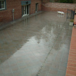 3000 square feet of porcelain of a waterproofing membrane to finally dry up their basement.