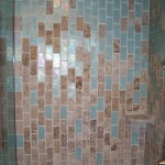 Digital Waterfall. All of these tiles were 4 inches square, cut in half, then rounded over.