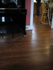 Floors stained and resealed.