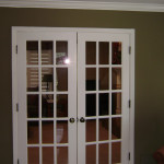 French doors to the sitting room added. Took wall out first.