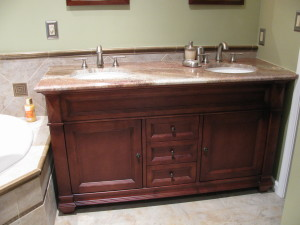 Furniture grade Bertch bath vanity.