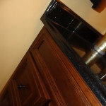 Galaxy black with an OGEE profile on top of a new medallion vanity.