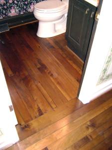 Hand finished walnut from Olde Savannah flooring.