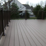Hidden screw fastening system really cleans up the look of this deck.