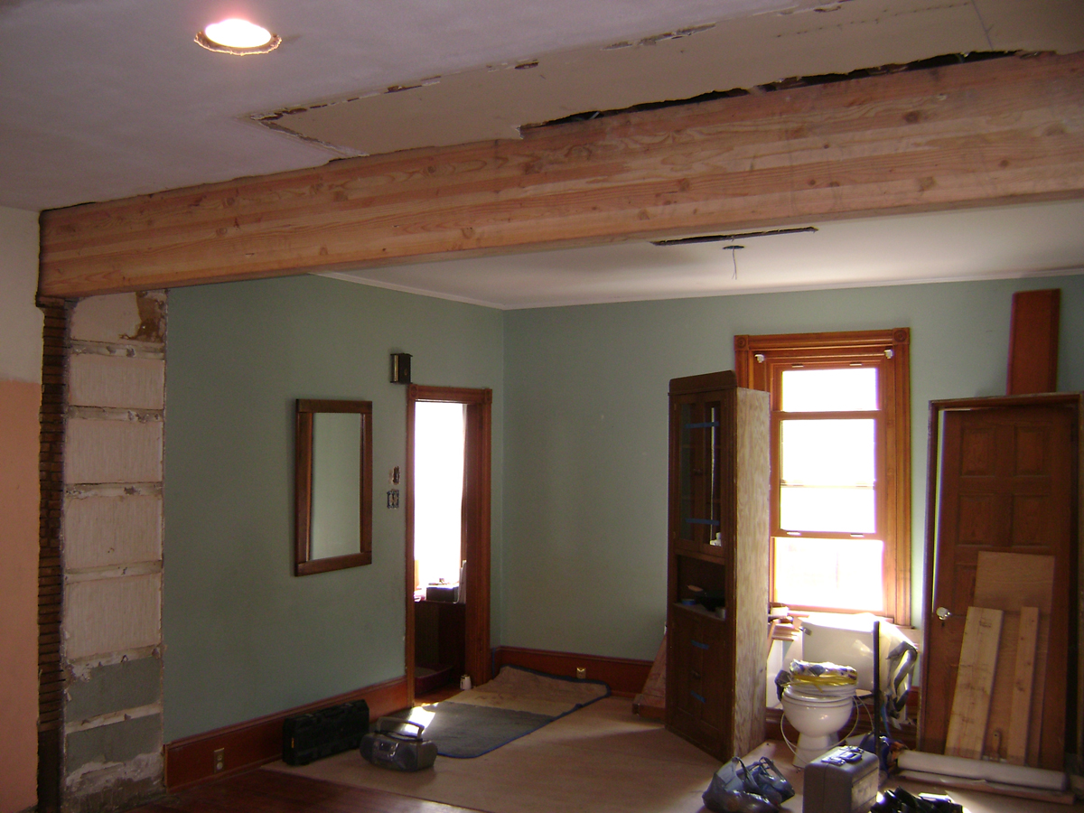 Large Load Bearing Wall Came Out To Connect The Kitchen