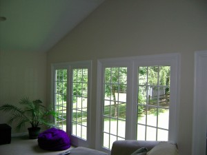 New doors and panels offering a beautiful view of the back yard.