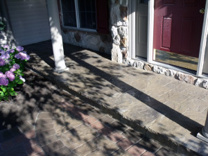 New front porch and steps.