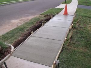 New sidewalk section.
