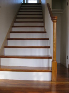 We refinished these stairs while we were doing the floors.