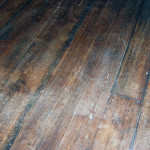 Refinished wide plank flooring from the 1800's.