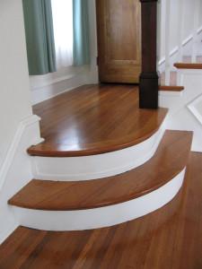 "Restored floors and stair treads. New 14"" round around the perimeter."