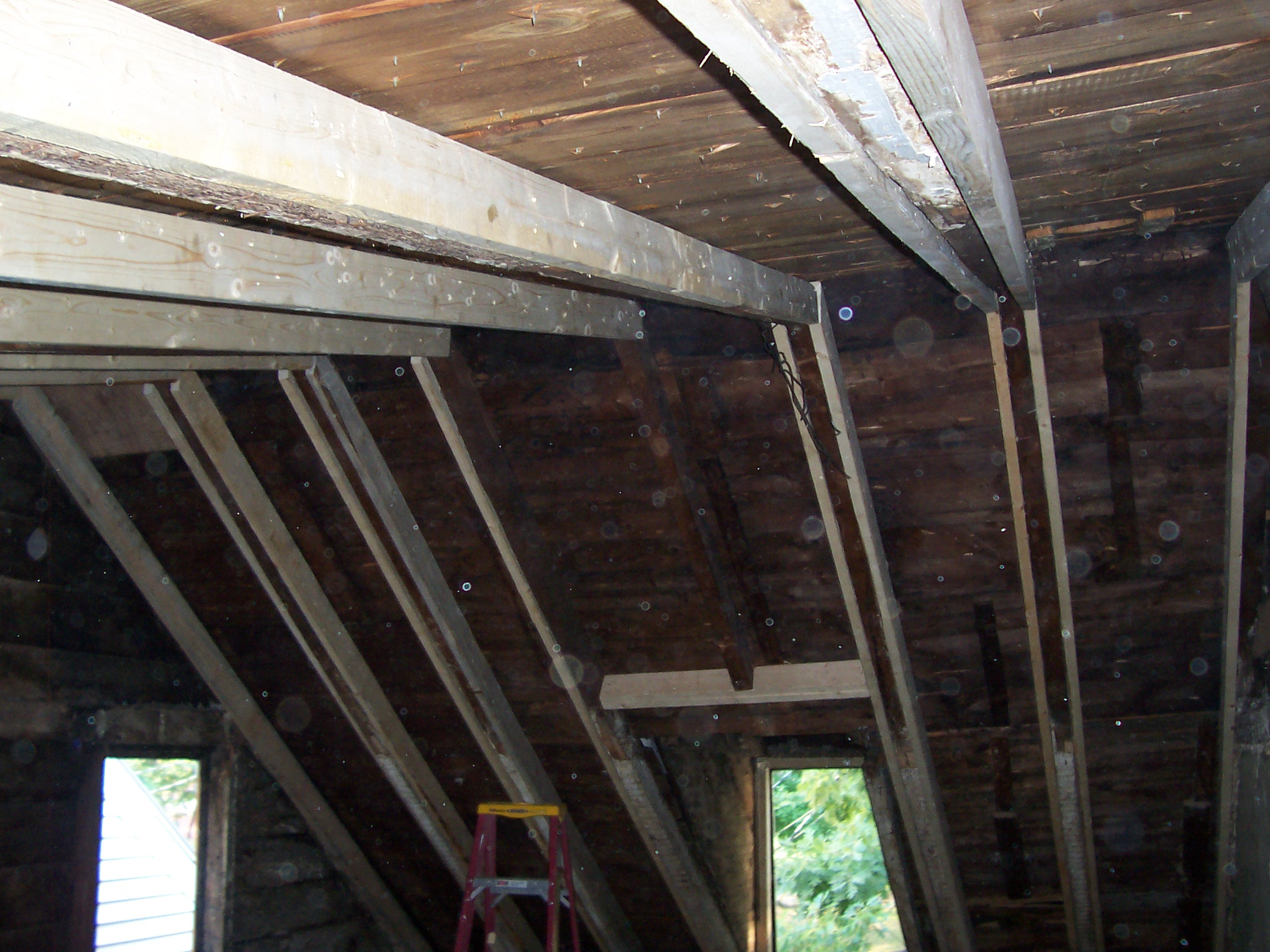Sistering Up Roof Rafters To Keep A Roof From Sagging
