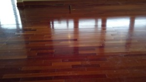 We spliced in brazilian cherry wood to remove the damage so this house could be sold.