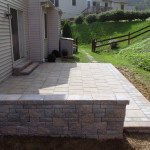 Techo-bloc patio, walls and steps.
