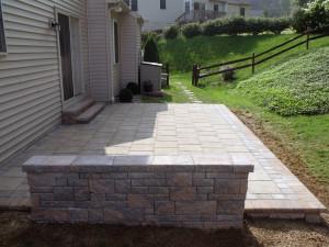 Techo-bloc patio, walls and steps.