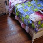 This floor was unrestorable according to a carpet salesman.