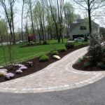 This front walk would not be half of what it is without the softscaping around it.