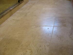 A Travertine floor.