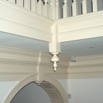 Whats new and what is 250 years old? Inverted finial, arched jamb and trim.